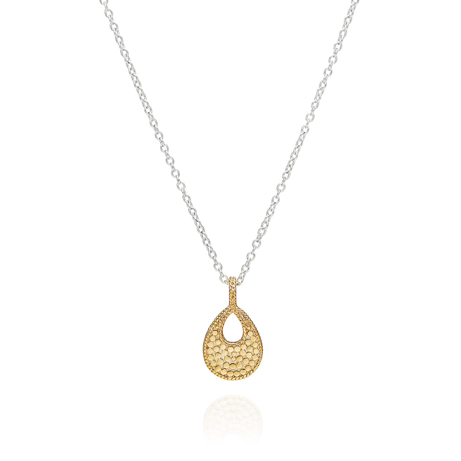 Classic Small Open Drop Pendant Necklace - Reversible