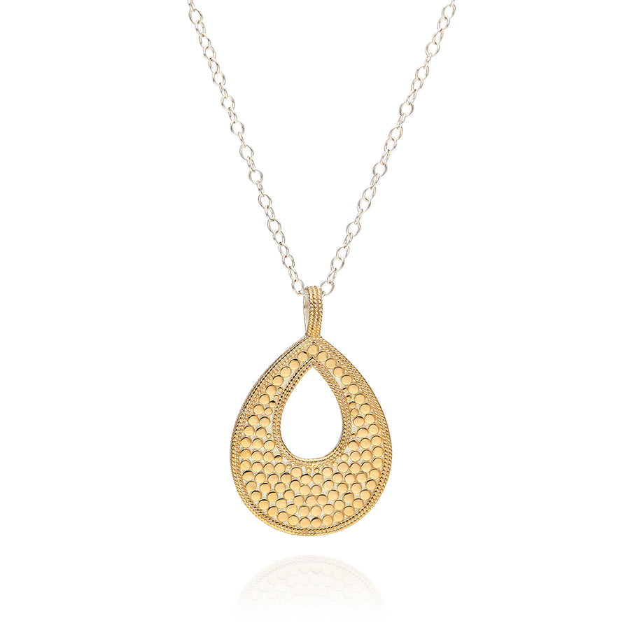 Classic Large Open Drop Pendant Necklace - Reversible