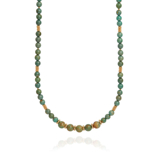 Long Turquoise Beaded Necklace