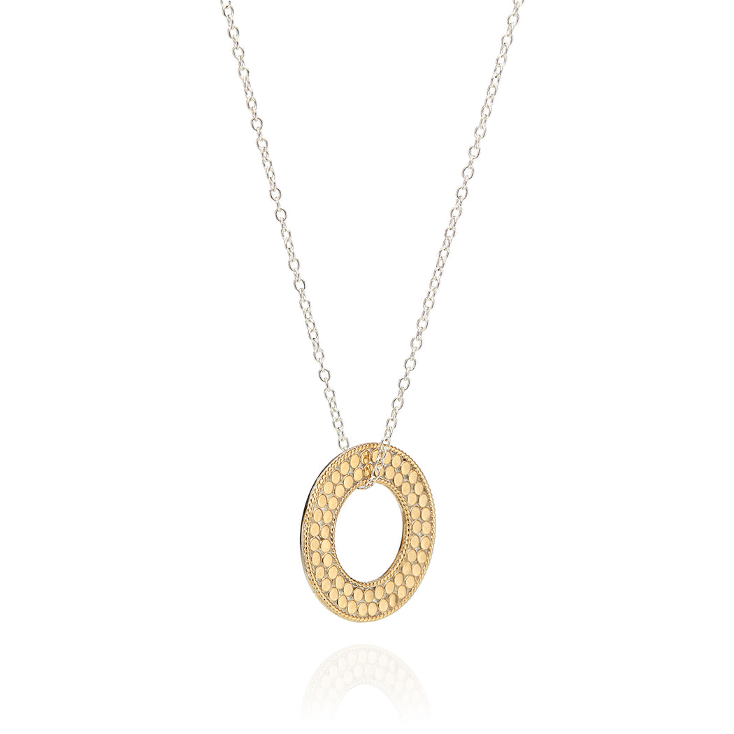 Flat Open Circle Necklace - Reversible
