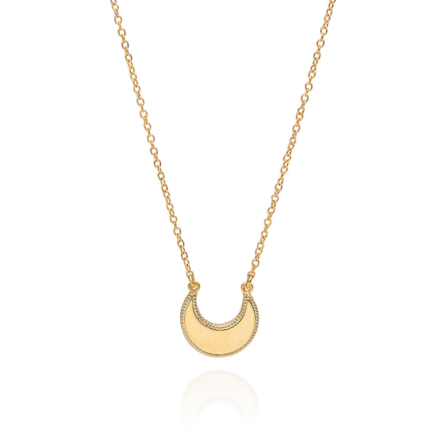 Small Crescent Necklace - Gold