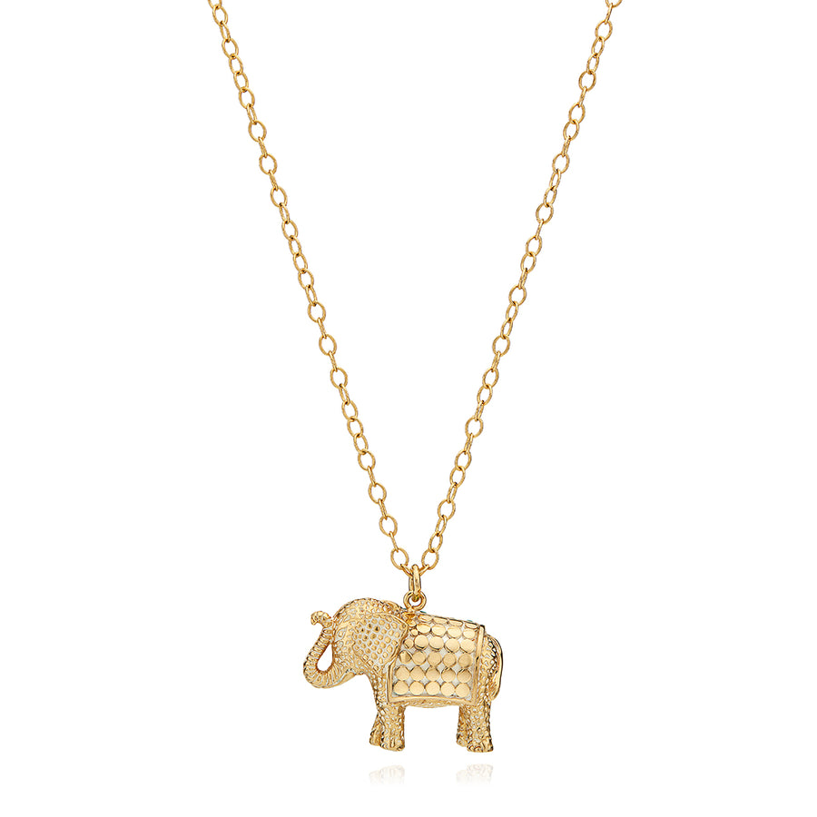 Turquoise Pavé Elephant Charity Necklace