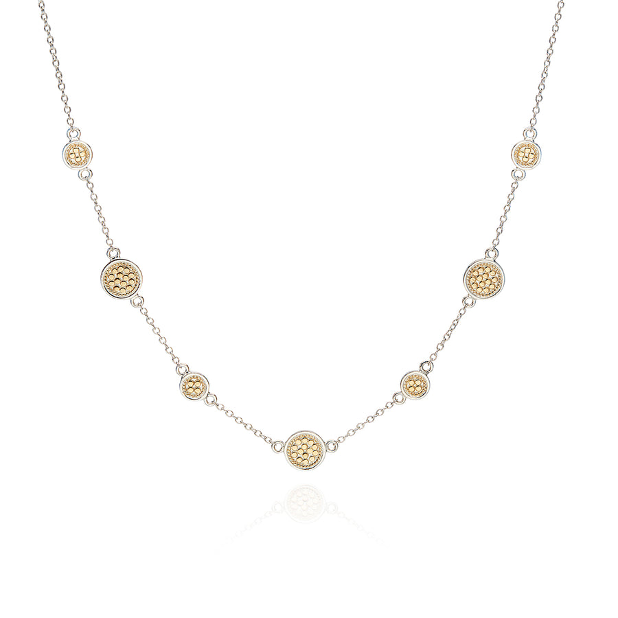 Classic Station Necklace - Gold & Silver