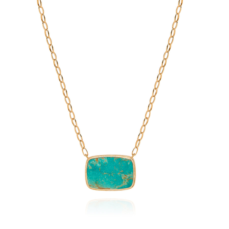 Large Turquoise Cushion Necklace