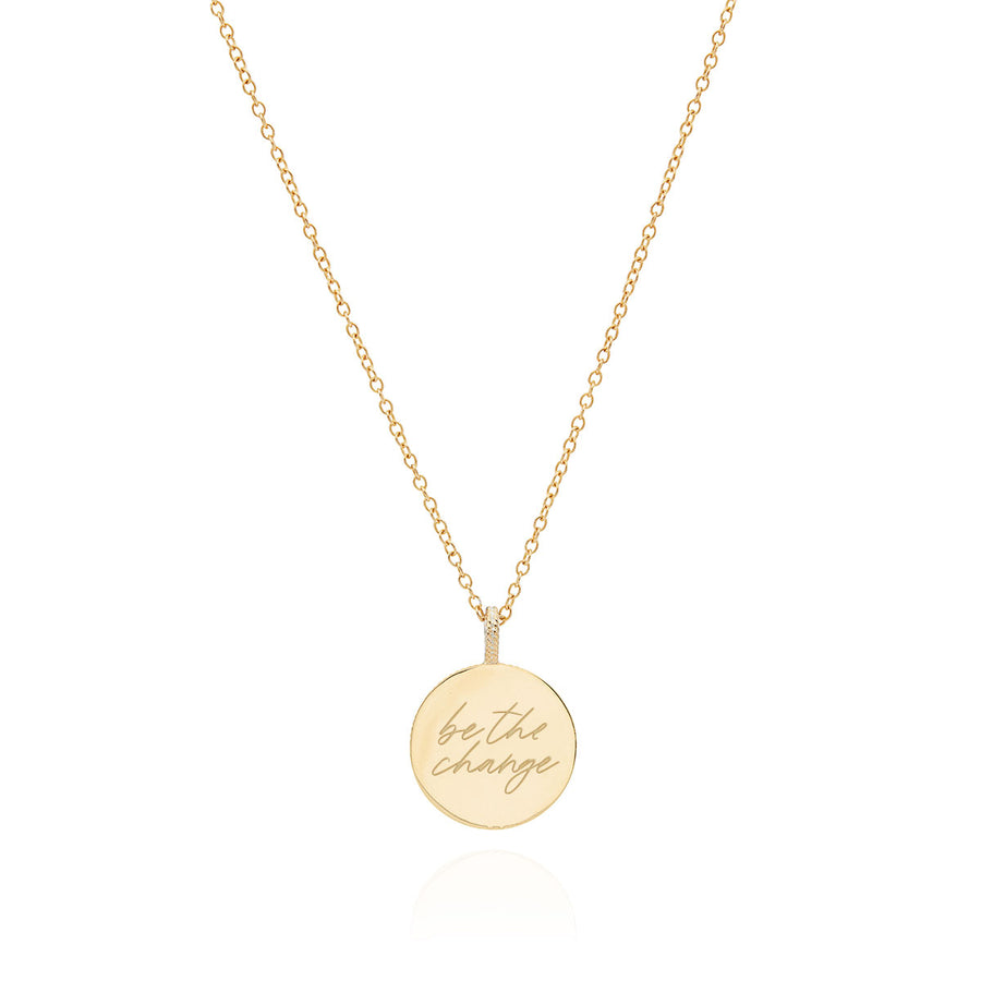 Engravable Dotted Border Necklace