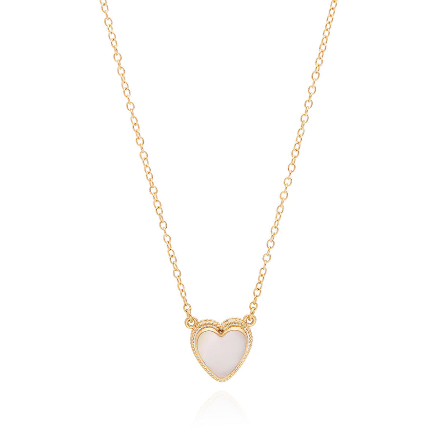 Engravable Rose Quartz Heart Necklace