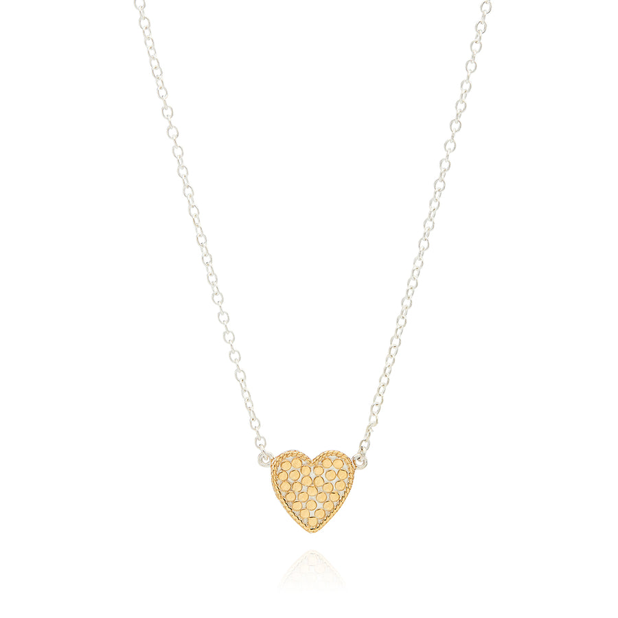 Engravable Heart Charity Necklace - Gold & Silver