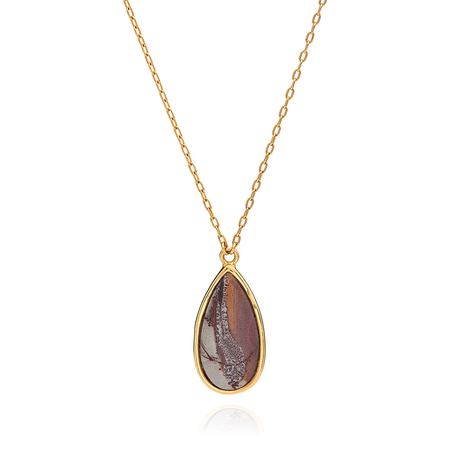 Sonora Jasper Teardrop Necklace