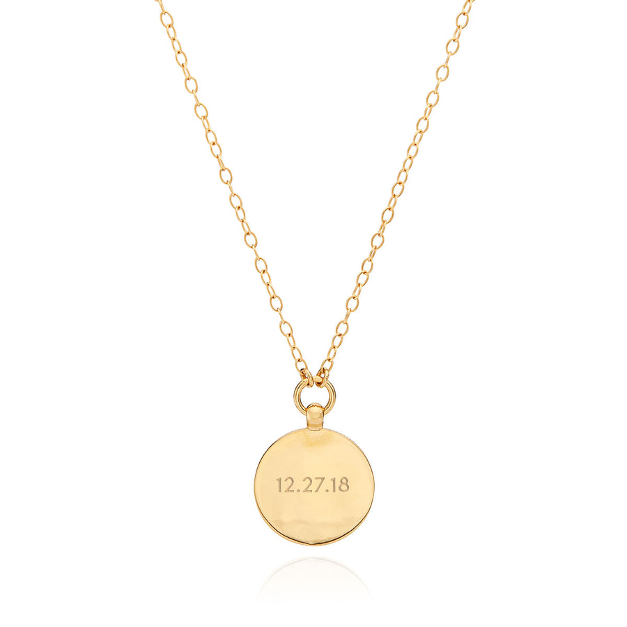 Medium Engravable Medallion Pendant Necklace