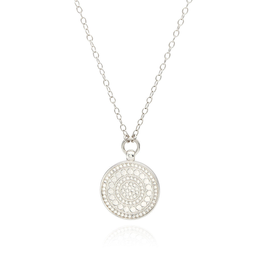 Classic Medium Disc Reversible Pendant Necklace - Gold & Silver