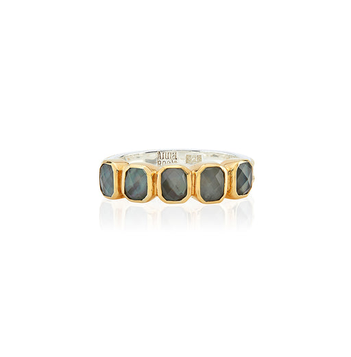 Grey Quartz Multi-Stone Ring