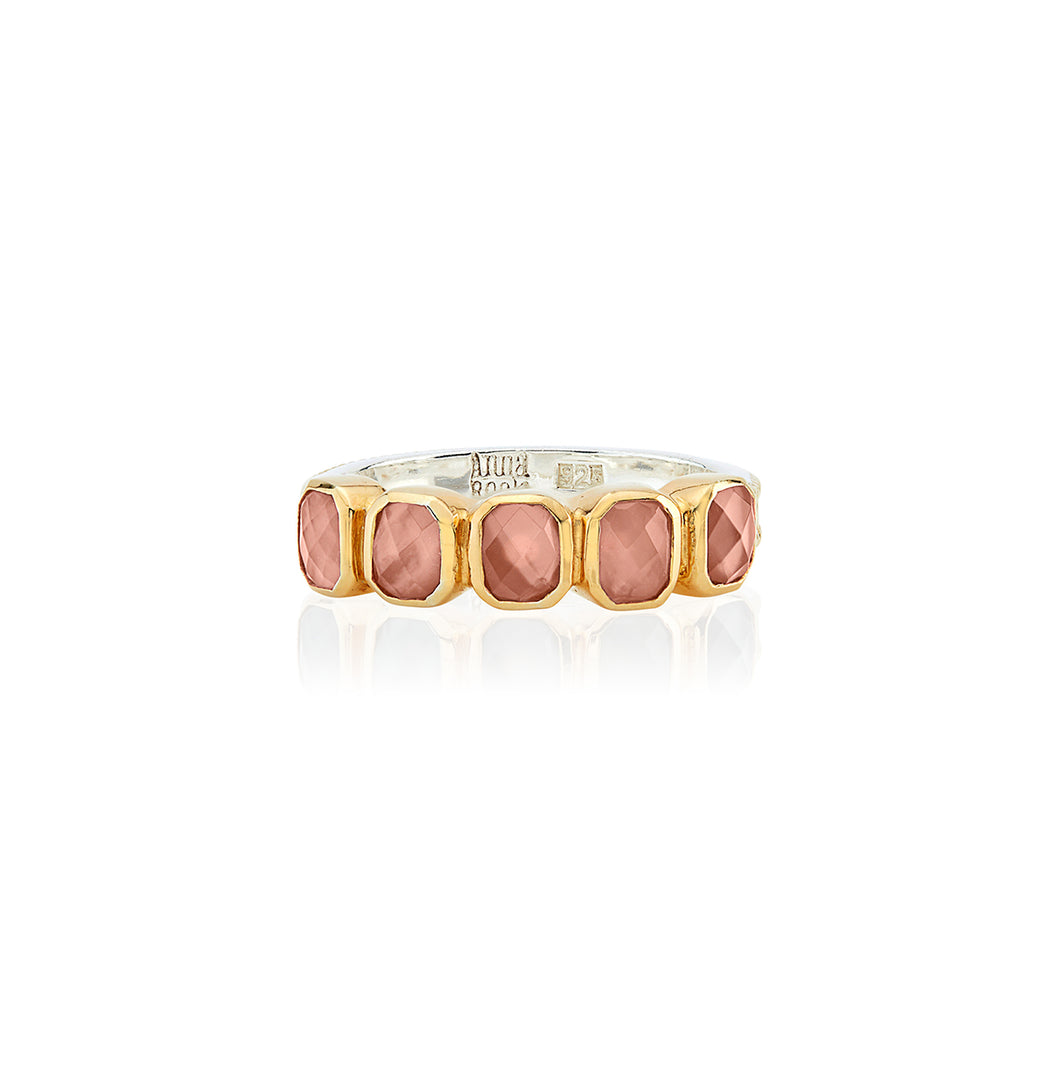 Pink Quartz Multi-Stone Ring