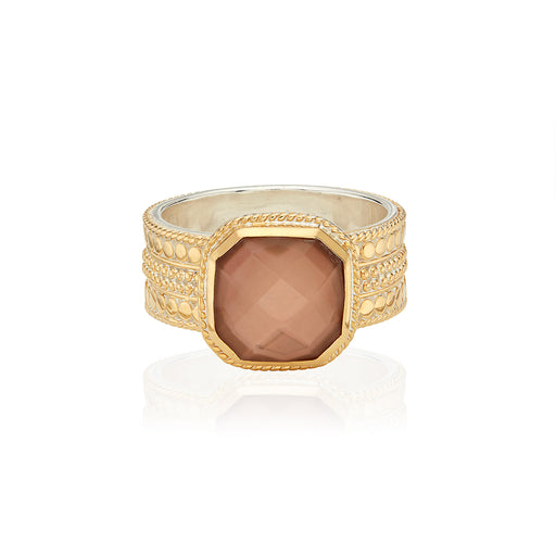 Limited Edition Pink Quartz Cushion Ring