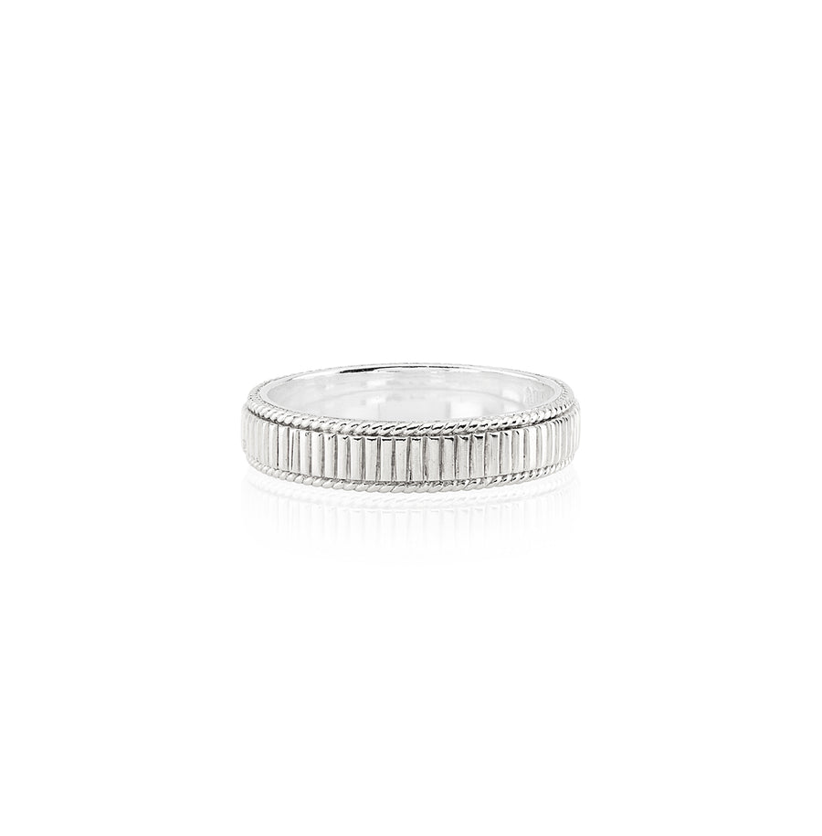 Linear Stacking Ring - Silver