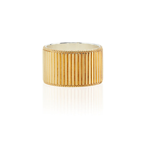 Ribbed Band Ring