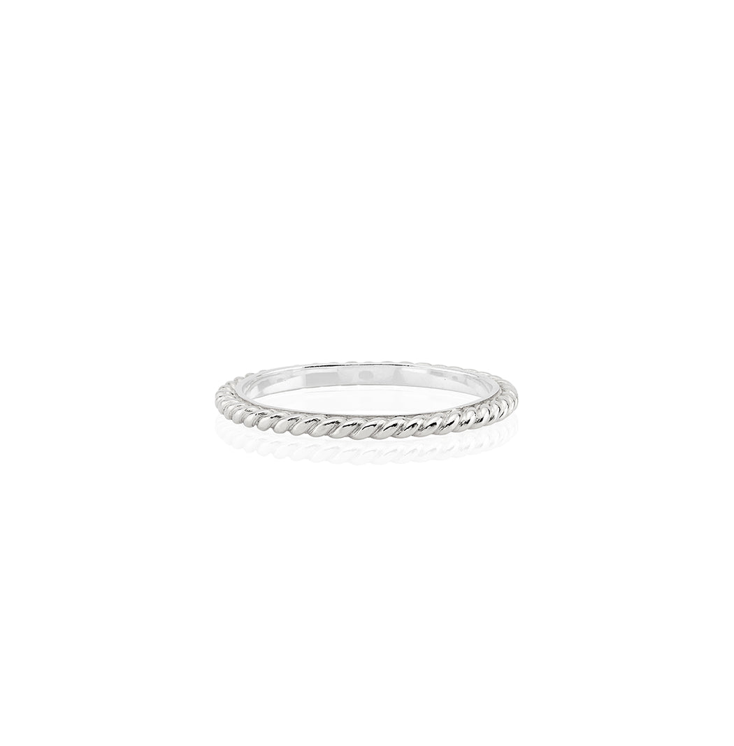 Twist Stacking Ring - Silver