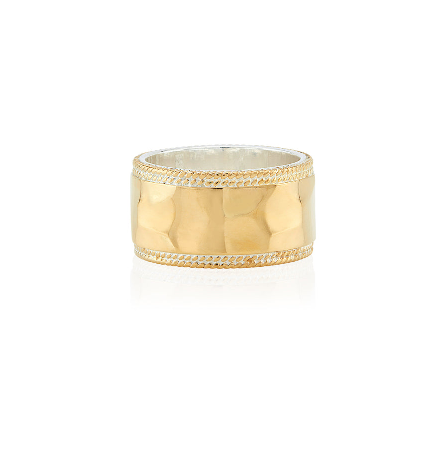 Hammered Band Ring - Gold