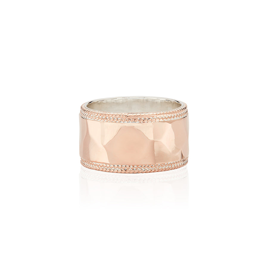 Hammered Band Ring - Rose Gold