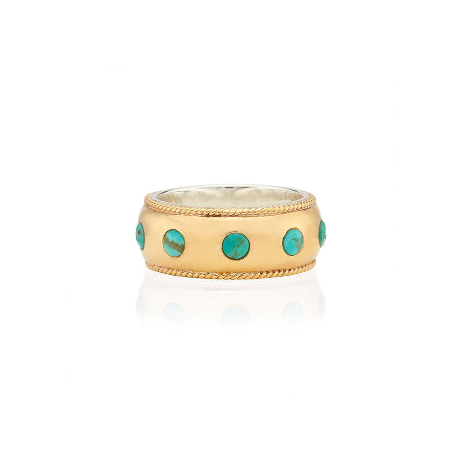 Turquoise Smooth Dome Band Ring