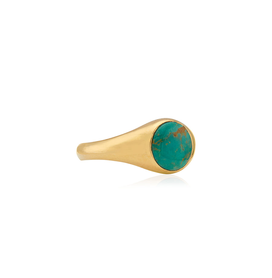 Turquoise Smooth Signet Ring