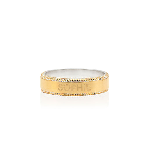 Engravable Band Ring - Gold