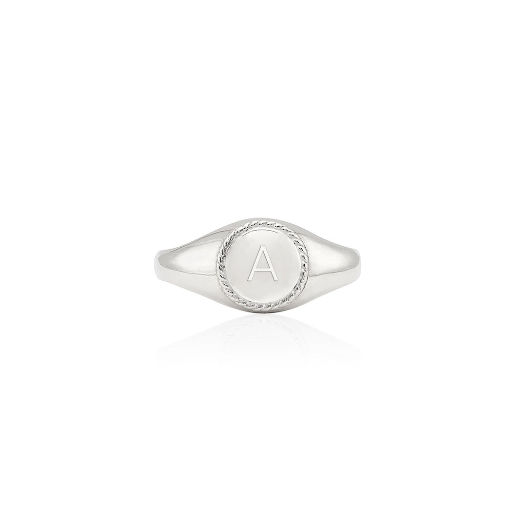 Engravable Signet Ring - Silver