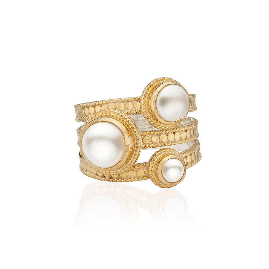 Pearl Faux Stacking Ring