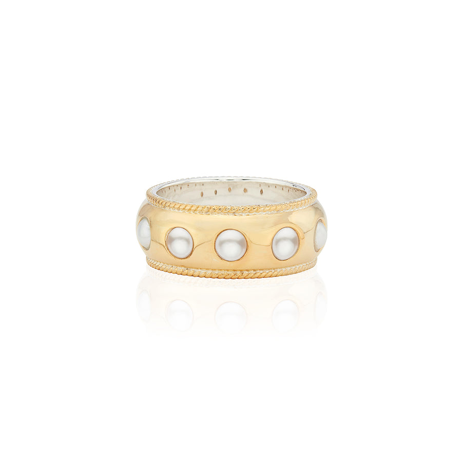 Pearl Smooth Dome Band Ring