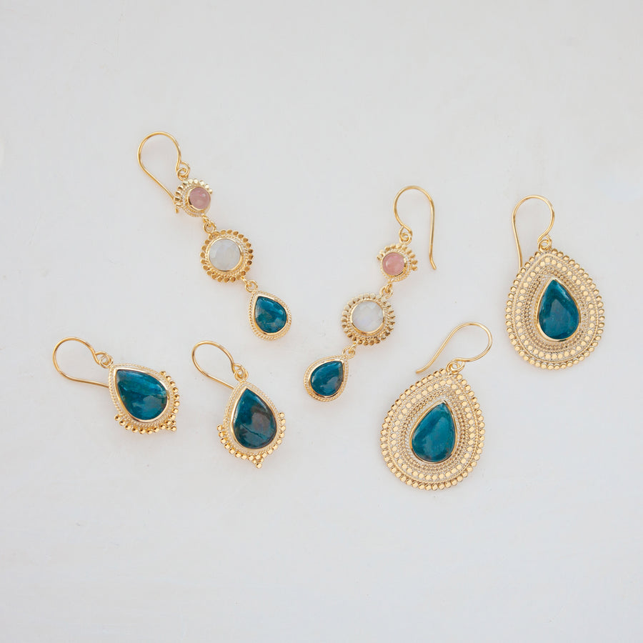 Medium Apatite Drop Earrings