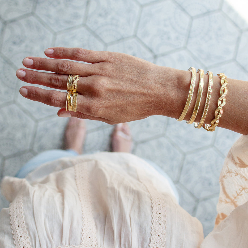 Braided Stacking Ring - Gold