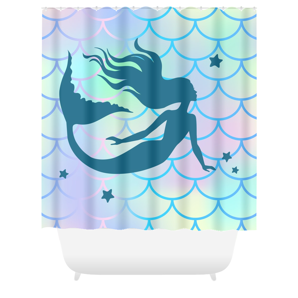 Mermaid Shower Curtain Mermaid Decor Bathroom Decor - Royal Crown Pro