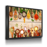 Herbs & Spices Canvas Wall Art, Cooking Decor, Kitchen Wall Art - Royal Crown Pro