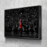 Michael Jordan Last Shot Canvas Wall Art - Royal Crown Pro