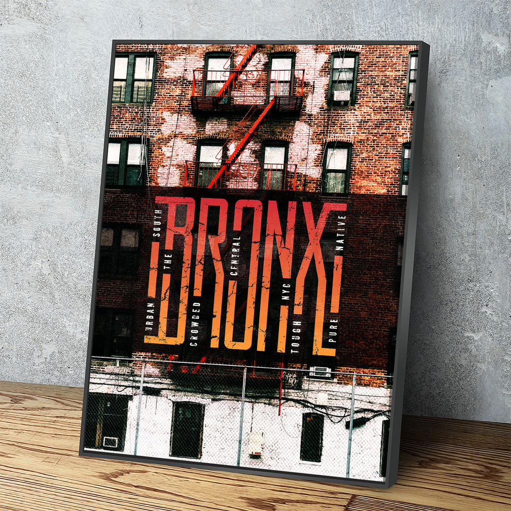 Bronx Canvas Wall Art,Urban Decor, New York Wall Art - Royal Crown Pro