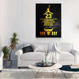 Michael Jordan Success Quote Canvas Wall Art - Royal Crown Pro