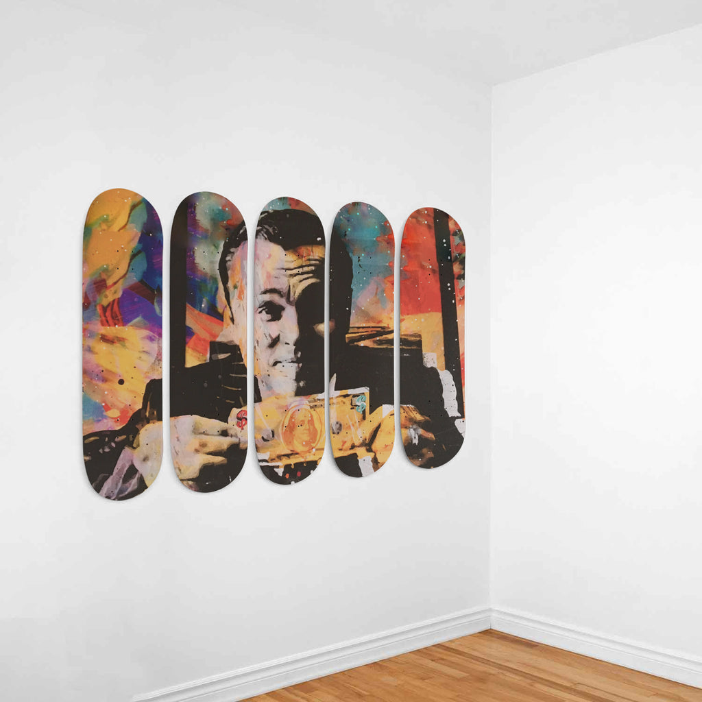 Wolf Of Wall Street Skateboard Deck Wall Art 5-Piece Set - Royal Crown Pro