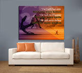Don't Wish It Was Easier Wish You Were Better Framed Canvas Wall Art Motivational Wall Decor - Royal Crown Pro