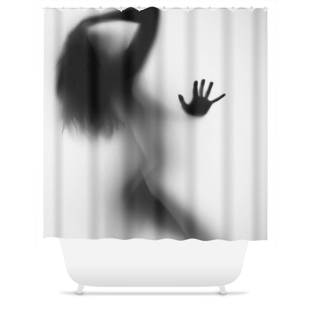 Lady In My Shower Silhouette Shower Curtain - Royal Crown Pro