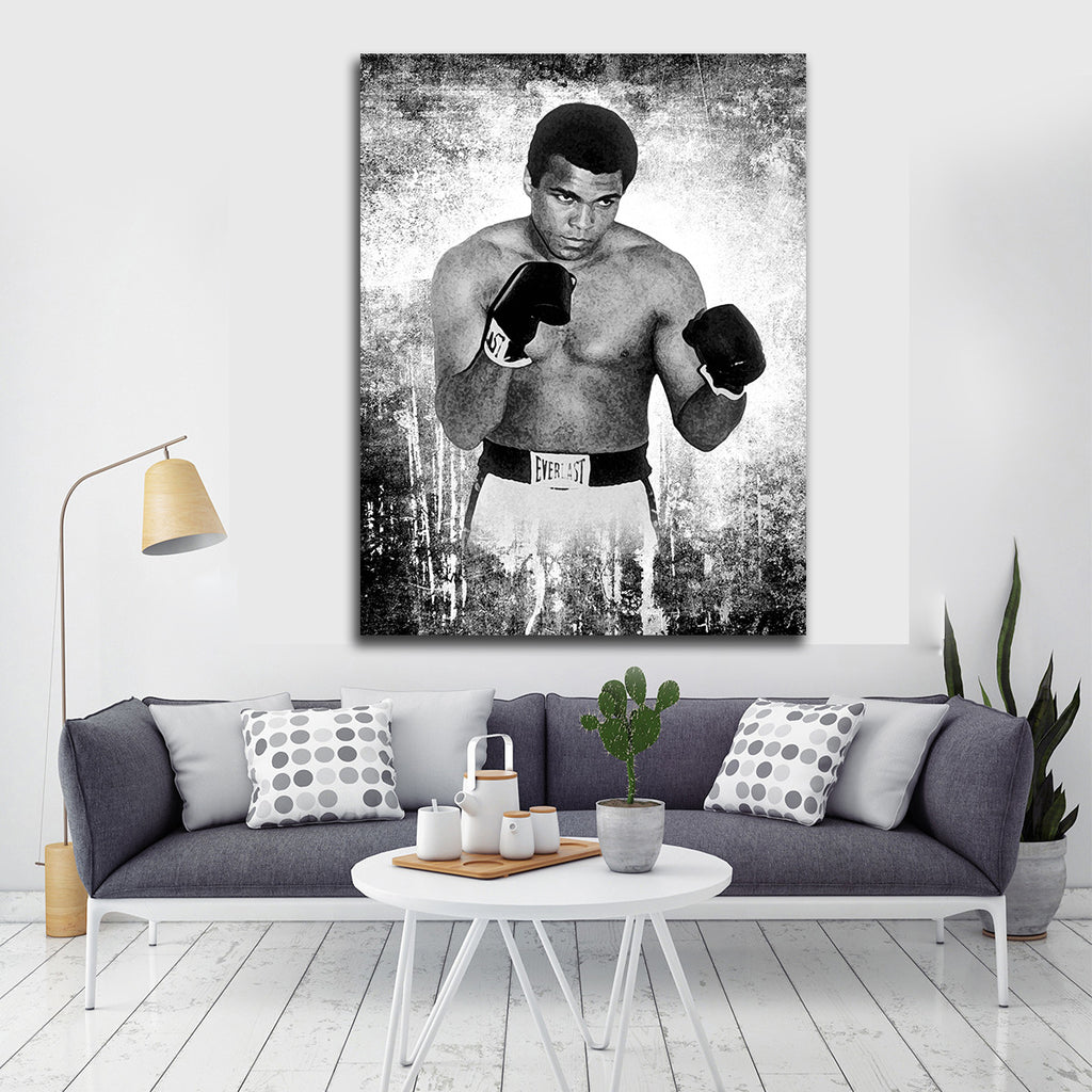 ALI The Louisville LIP Framed Canvas Wall Art - Royal Crown Pro