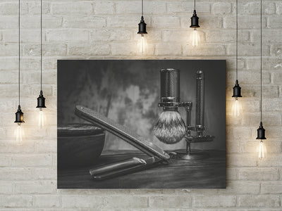 Barber Shop B&W Framed Wall Art - Royal Crown Pro