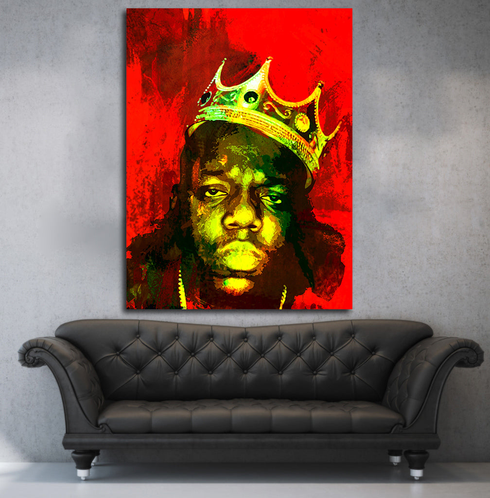 Biggie Smalls Luke Cage Inspired Framed Wall Art Canvas The Notorious BIG