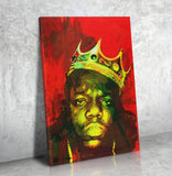Biggie Smalls Luke Cage Inspired Wall Art Canvas The Notorious B.I.G. - Royal Crown Pro