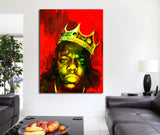 Biggie Smalls Luke Cage Inspired Framed Wall Art Canvas The Notorious B.I.G. - Royal Crown Pro