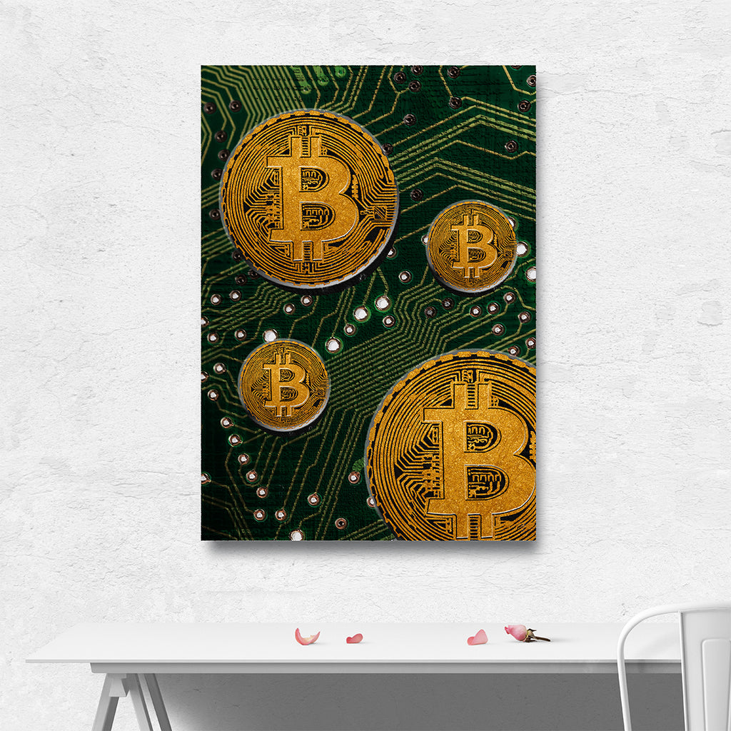 Bitcoin Crypto Art Bitcoin Wall Art Canvas Bitcoin Decor For Home Or Office Cryptocurrency - Royal Crown Pro