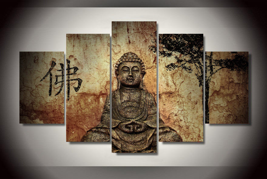 Buddha Mind And Soul 5-Piece Wall Art Canvas - Royal Crown Pro