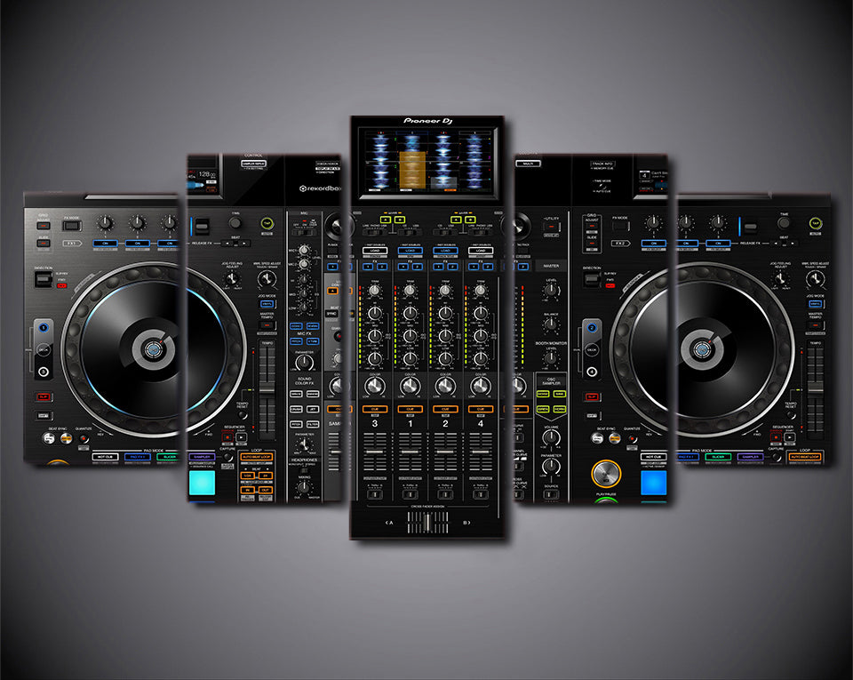 DJ System Art 5-Piece Wall Art Canvas - Royal Crown Pro