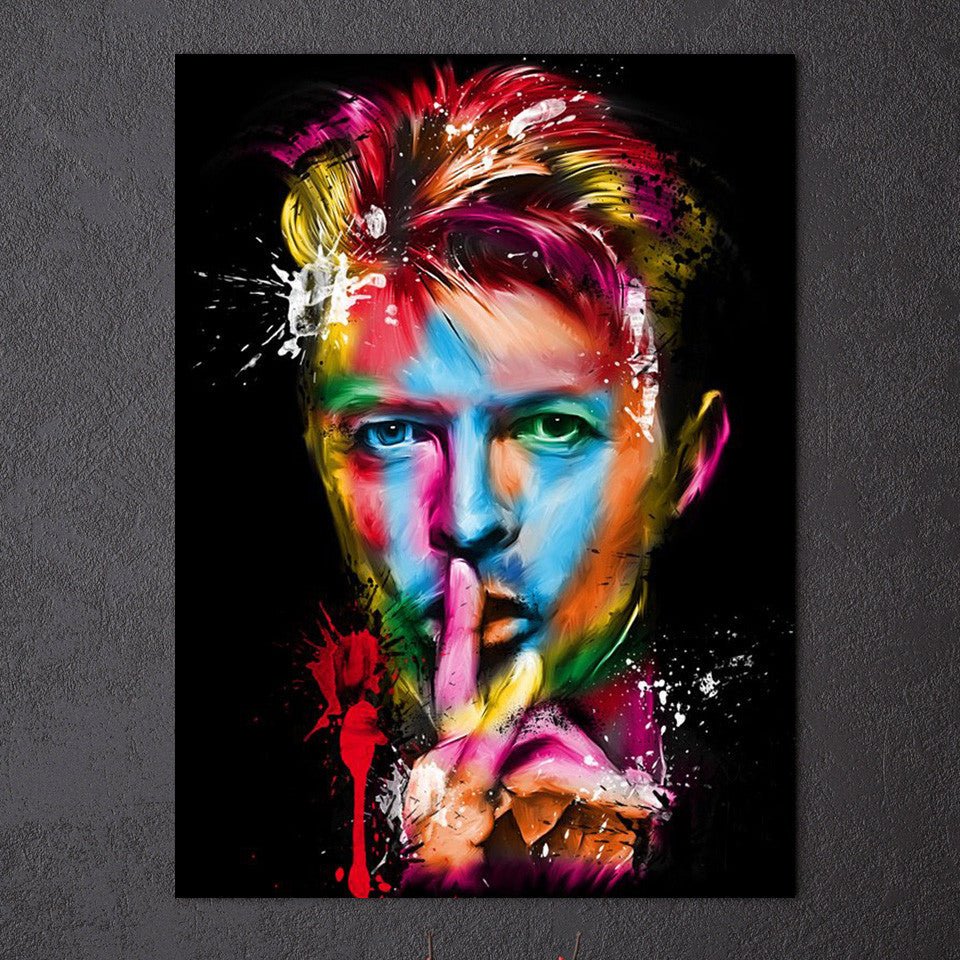 David Bowie Wall Art Canvas - Royal Crown Pro
