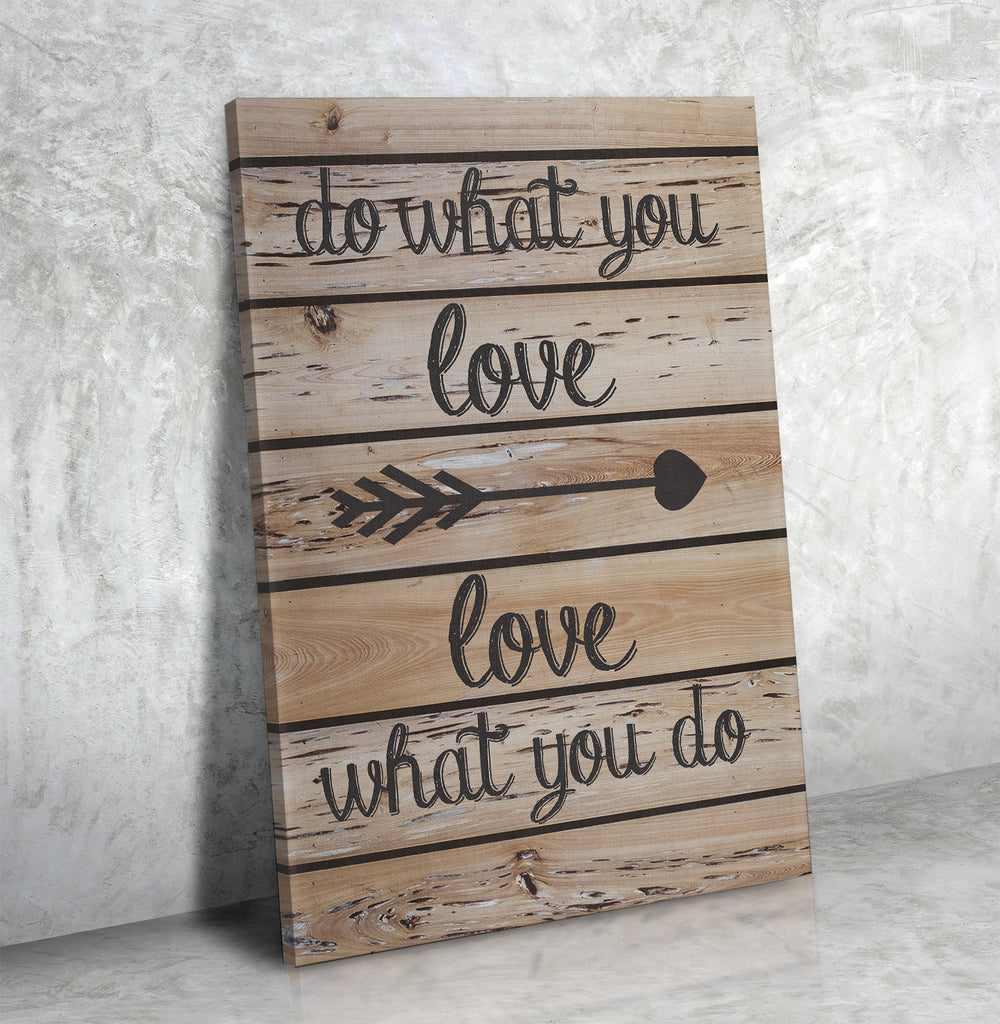 Do What You Love, Love What You Do Framed Wall Art Canvas For Home Or Office - Royal Crown Pro
