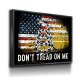 Don't Tread On Me Canvas Wall Art, USA Patriotic Decor - Royal Crown Pro