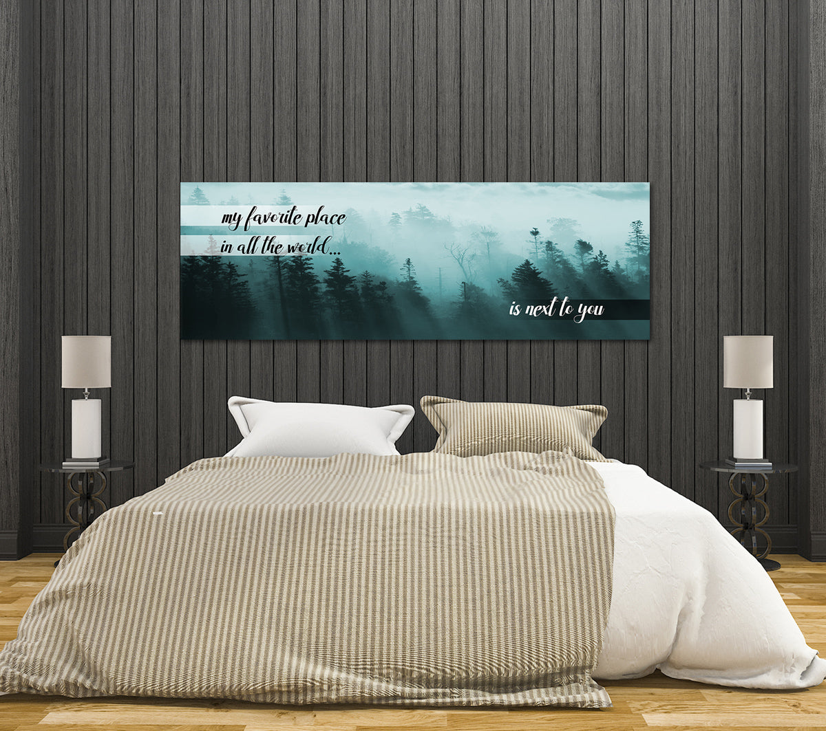 my favorite place in all the world is next to you canvas framed wall a. Black Bedroom Furniture Sets. Home Design Ideas